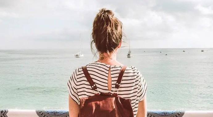 woman wearing a kaukko backpack