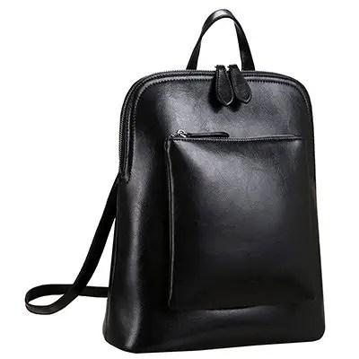 Heshe женщин старинные кожаный рюкзак