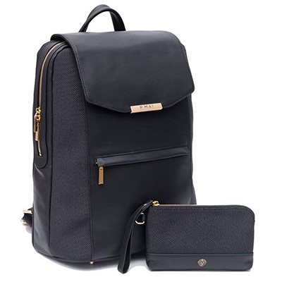 P.MAI Premium Valletta Leather Laptop Backpack