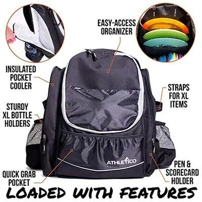 Athletico Beginner Disc Golf Backpack