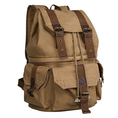 S-Zone Canvas DSLR Camera Backpack