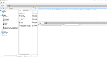 View SQL Server Backup File Using SQL Bak Explorer