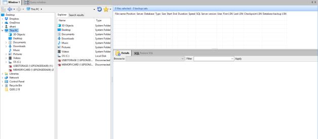 View SQL Server Backup File Using SQL Bak Explorer
