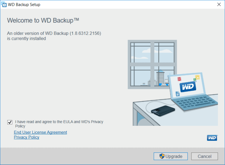 upgrade wd backup