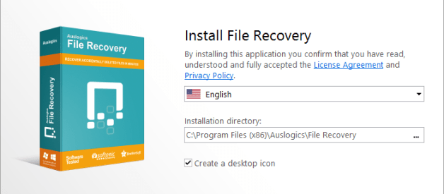 Auslogic File Recovery Installation Steps