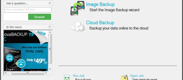 NovaBackup 19.1 Review and Download Link