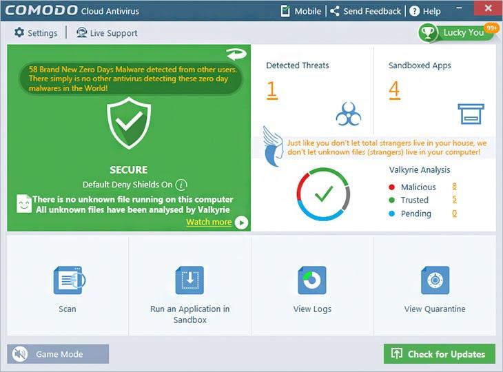 comodo cloud antivirus full version