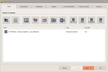 How to Backup PostgreSQL Database Using Iperius Backup 5.4.1 Full Version