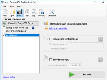 Backup PostgreSQL Databases Using PostgreSQL Backup 2.0.6