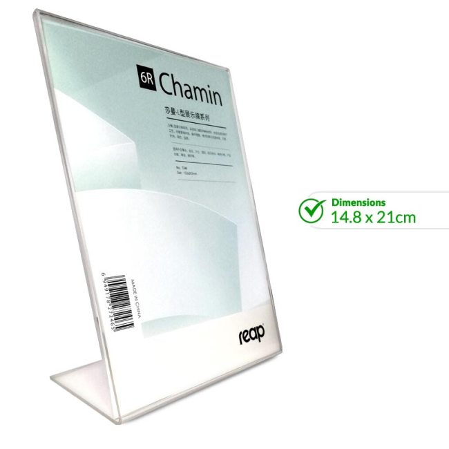 Acrylic Price Display Holder 15.2 x 20.3cm - 7246