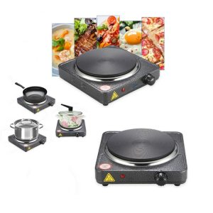 Electric Hot Plate Single - 1000W (Black)