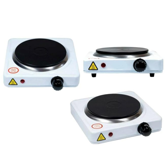 Electric Hot Plate Single - 1500W (White)