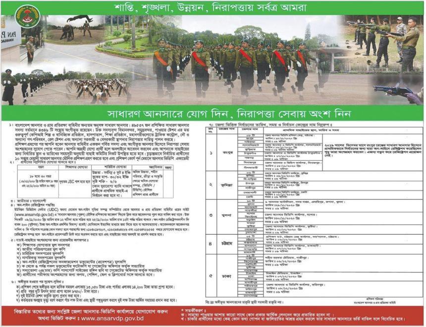 Bangladesh Ansar VDP Job Circular 2020