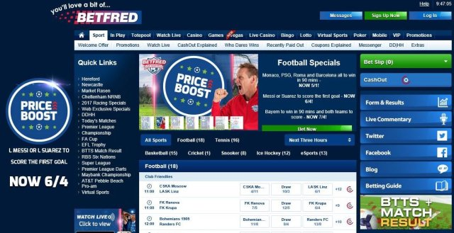 bet £10 get £30 at Betfred online betting site
