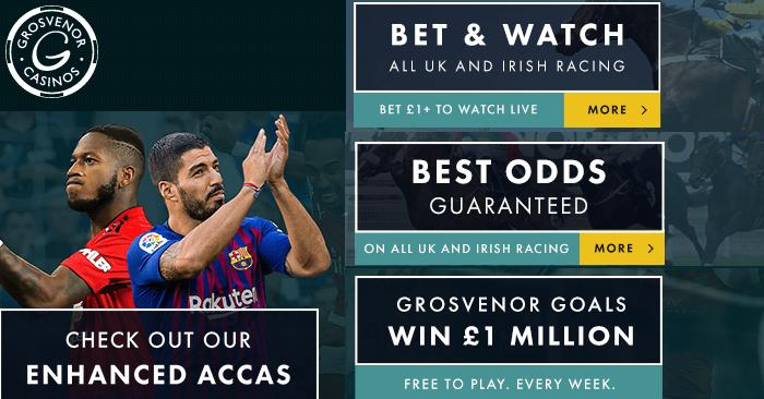 sports betting at Grosvenor Casinos