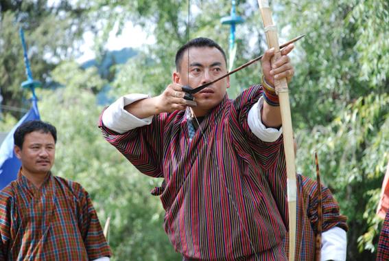 Trang phục truyền thống của người dân Bhutan.
