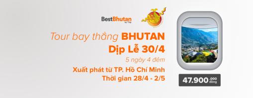 Khám phá văn hóa Bhutan 5N4Đ Thimphu – Punakha – Paro. Bay thẳng từ TP. HCM, Việt Nam (28/04/2018 – 02/05/2018)