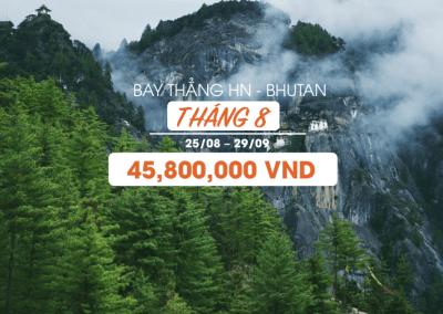 Khám phá văn hóa Bhutan 5N4Đ Thimphu – Punakha – Paro. Bay thẳng từ Hà Nội, Việt Nam (25/08/2018 – 29/08/2018)