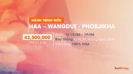 Khám phá văn hóa Bhutan 5N4Đ Paro – Haa – Wangdue – Phobjikha. Trải nghiệm đặc biệt bay thẳng từ Tp. HCM, Việt Nam (15/06/2018 – 19/06/2018)
