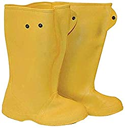 yellow construction boots