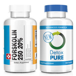 Forskolin 250 and Detox Combo Featured