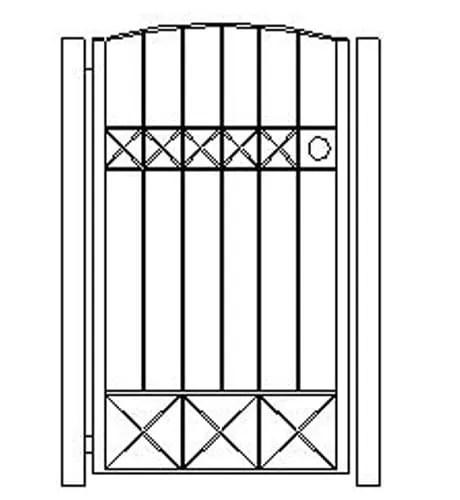 pedestrian gates icgg18 1500