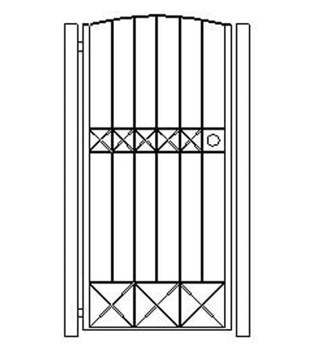 pedestrian gates icgg18 1800