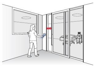 Hands free door opener hospital