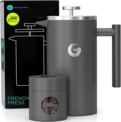 Coffee Gator French Press for skoolie coffee drinkers