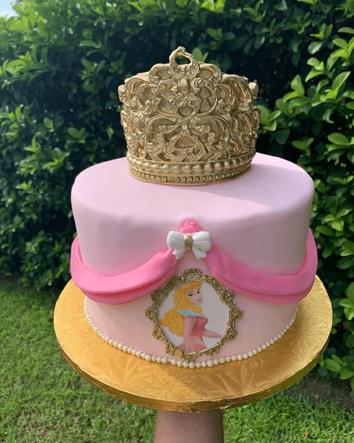 Pleasing Sleeping Beauty Cake