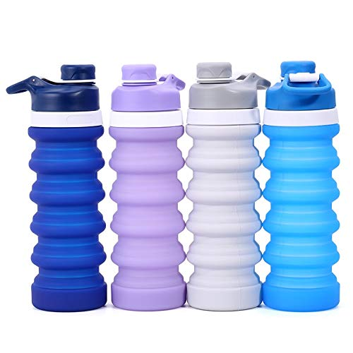 Collapsible Water Bottle BPA Free FDA Approved Food-Grade Silicone for Travel