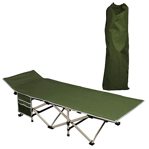 Yaheetech Folding Camping Bed - Foldable Portable Military Cot Canvas Tent  Bed Comfortable Sleeping Cot Outdoor/Indoor/Office/Patio Furniture Bed