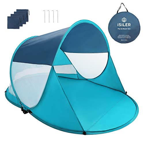 Portable Pop Up Family Beach Tent Outdoor UV Protection Canopy Sun Shade Shelter
