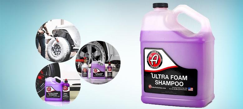 Adam's Ultra Foam Shampoo Gallon - Our Most Sudsy Car Shampoo Formula Ever - pH Neutral Formula for Safe