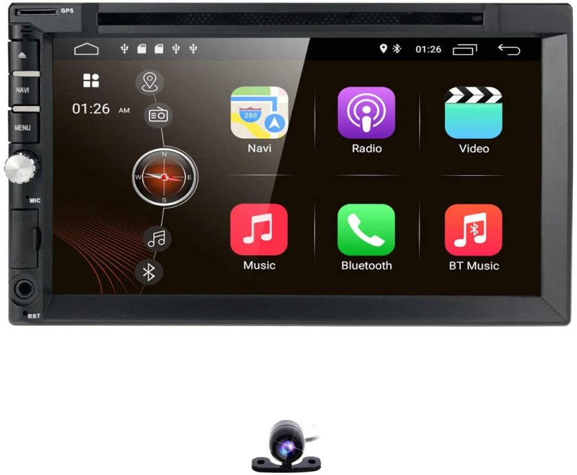 Hizpo Universal Video Audio Player  Best Double Din With Backup Camera