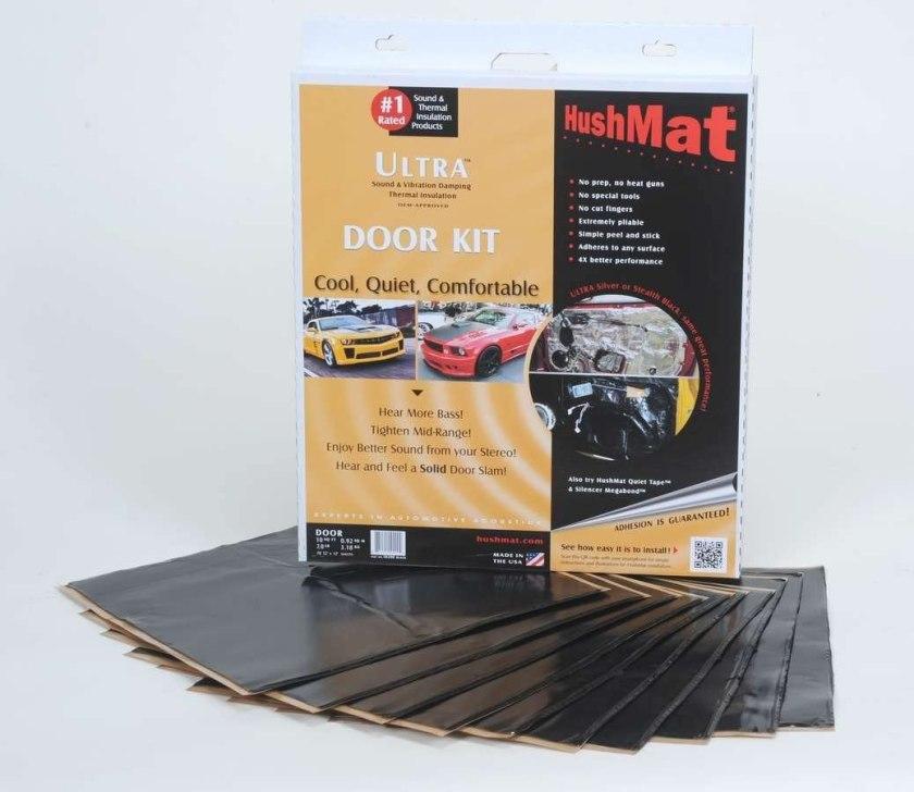 HushMat 10200 Ultra Black Foil Door Kit Best Sound Deadening Material for Cars