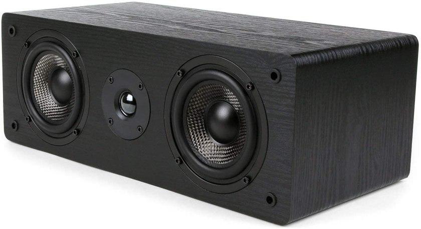 Speaker with Dual Carbon Fiber Woofer & Silk Dome Tweeter Best High End Center Channel Speaker