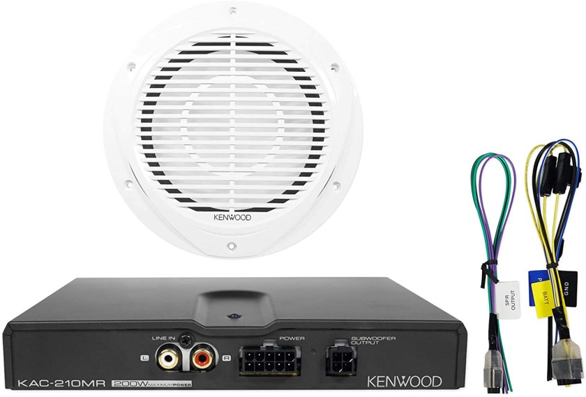 Kenwood P-WD250MRW 10-Inch Marine Subwoofer and Amplifier Package Best Marine Subwoofers for the Money