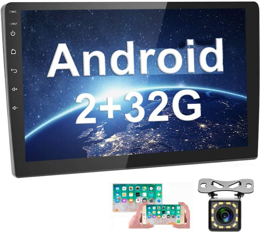 [2G+32G] Upgrade Hikity Double Din Android Car Stereo 10.1 Inch
