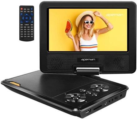 Best Portable DVD Player under $50, APEMAN 9.5 Portable DVD Player