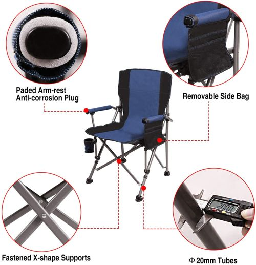REDCAMP Camping Chairs for Adults 2