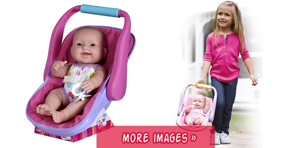 silicone baby girl in adjustable carrier