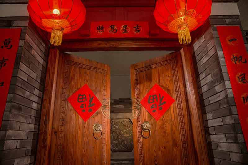 decorate house in red-for chinese new year lucky