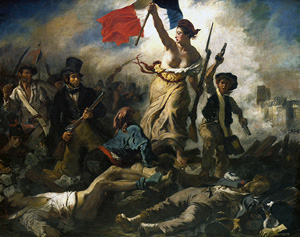 Liberty leading the people – Up the garden path? Bastille Day style revolution in the US? nah..