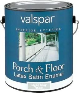 Valspar Porch and Floor Latex Satin Enamel - Best floor paint for wooden floors