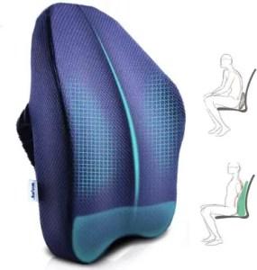 Ergonomic Lumbar Support Pillow, Memory Foam Back Cushion, Best Office chair back cushion