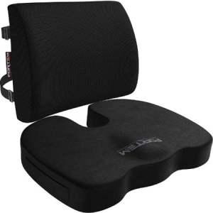 Best Back support pillow for office chair, Lumbar Support for Office Chair, Car, Wheelchair, Memory Foam Pillow