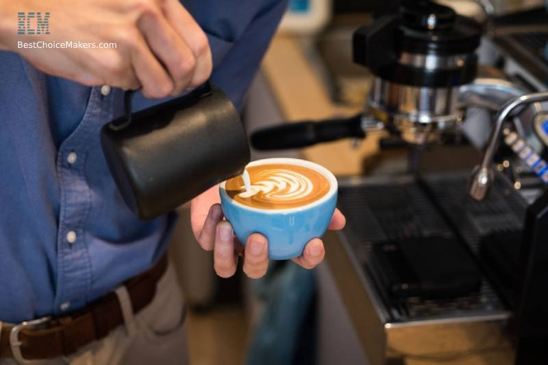 Making a Latte with an Espresso Machine