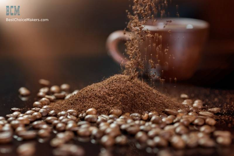 Preparing the Coffee Beans to Make a Latte