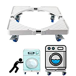Multi-Functional Adjustable Washer Dryer Dolly - Best Appliance Casters and Rollers with Lock